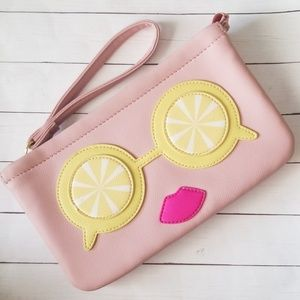 Betsey Johnson Lemon Eyes Wristlet | NWOT